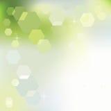 Fondo de la primavera en verde y azul stock de ilustración