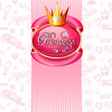 Fondo de la princesa de las muchachas ilustración del vector