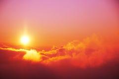 Fondo de la puesta del sol Imagenes de archivo