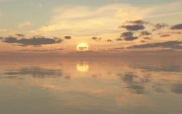 Fondo de la puesta del sol Foto de archivo libre de regalías