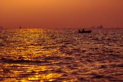 Fondo de la puesta del sol Fotografía de archivo libre de regalías