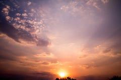 Fondo de la puesta del sol Imagen de archivo