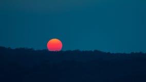 Fondo de la puesta del sol/de la salida del sol Foto de archivo
