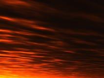 Fondo de la puesta del sol del verano Fotos de archivo