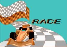 Fondo de la raza con el coche Fotos de archivo