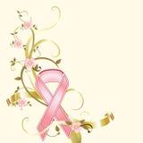 Fondo de la recaudador de fondos de la cinta del color de rosa del cáncer de pecho Imágenes de archivo libres de regalías