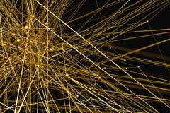 fondo de la red del oro del extracto del ejemplo 3d imagen de archivo