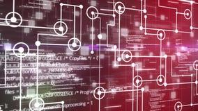 Fondo de la rejilla de pantalla del circuito electrónico o de monitor de computadora del fondo abstracto de la animación libre illustration