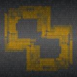 Fondo de la rejilla del metal con el modelo amarillo Vector Foto de archivo libre de regalías