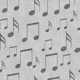 Fondo de la repetición de Gray Music Notes Tile Pattern foto de archivo libre de regalías