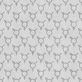 Fondo de la repetición de Gray Transgender Symbol Tile Pattern Imágenes de archivo libres de regalías