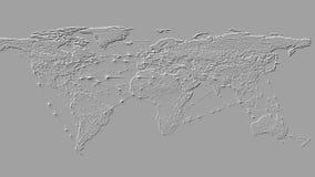 fondo de la representación 3D basado en la protuberancia tridimensional en el avión ilustración del vector