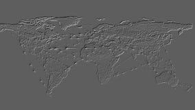 fondo de la representación 3D basado en la protuberancia tridimensional en el avión stock de ilustración