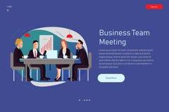 Fondo de la reunión del ejemplo del vector en estilo plano libre illustration