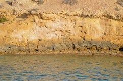 Fondo de la roca y del mar Fotos de archivo libres de regalías