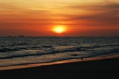 Fondo de la salida del sol de la puesta del sol del mar Fotografía de archivo libre de regalías