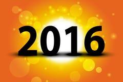 fondo de la salida del sol de la tarjeta de la Feliz Año Nuevo 2016 Imagen de archivo