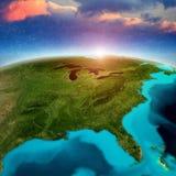Fondo de la salida del sol de los Estados Unidos de América ilustración del vector