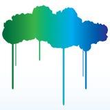 Fondo de la salpicadura de la pintura del gradiente Fotografía de archivo