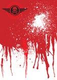 Fondo de la sangre del cráneo Foto de archivo libre de regalías