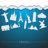fondo de la señal del viaje Foto de archivo libre de regalías