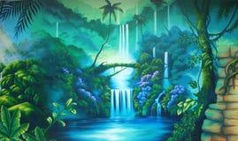 Fondo de la selva tropical stock de ilustración