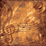Fondo de la sepia de la música de la vendimia Foto de archivo libre de regalías