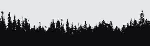Fondo de la silueta del bosque Foto de archivo libre de regalías