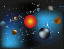 Fondo de la Sistema Solar de la galaxia del espacio Foto de archivo libre de regalías