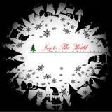 Fondo de la sombra de la Navidad Foto de archivo libre de regalías
