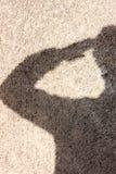 Fondo de la sombra del saludo Imagen de archivo
