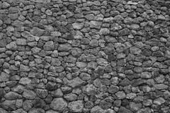 Fondo de la superficie real de la pared de piedra con el cemento Foto de archivo