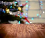Fondo de la tabla de la Navidad Fotografía de archivo