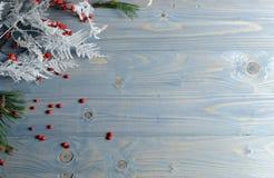 Fondo de la tabla de la Navidad Fotos de archivo libres de regalías