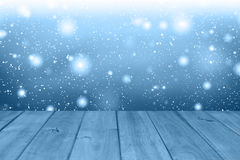 Fondo de la tabla de la Navidad Fondo de madera Imagen de archivo libre de regalías