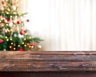 Fondo de la tabla de la Navidad imagen de archivo libre de regalías