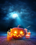 Fondo de la tarde de Halloween Foto de archivo