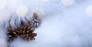 Fondo de la tarjeta de Art Christmas con decoratio de los días de fiesta de la Navidad Fotos de archivo