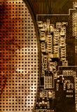 Fondo de la tarjeta de circuitos de ordenador Imagen de archivo