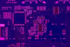Fondo de la tarjeta de circuitos del primer Imagen de archivo libre de regalías