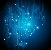Fondo de la tarjeta de circuitos - el vector está disponible stock de ilustración