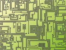 Fondo de la tarjeta de circuitos. Vector. Fotos de archivo libres de regalías