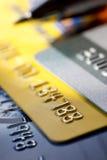 Fondo de la tarjeta de crédito Fotografía de archivo