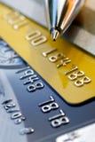 Fondo de la tarjeta de crédito Fotos de archivo libres de regalías