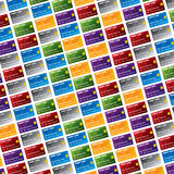 Fondo de la tarjeta de crédito Foto de archivo