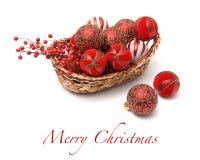 Fondo de la tarjeta de felicitación de la Navidad Imagen de archivo