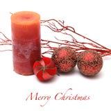 Fondo de la tarjeta de felicitación de la Navidad Fotos de archivo