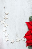 Fondo de la tarjeta de felicitación de la Navidad imagenes de archivo