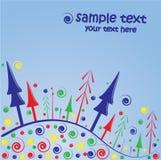 Fondo de la tarjeta de felicitación de la Navidad Imágenes de archivo libres de regalías