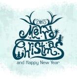 Fondo de la tarjeta de felicitación de la Navidad de la plantilla, vector Imagen de archivo libre de regalías